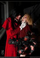 Hellsing Cosplay: Alucard x Seras: Blood Lust by Redustrial-Ruin