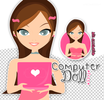 Computer Doll/PSD+PNG by Peerfectboyfriend