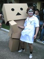 Danbo And joker Cosplay by Otagoth