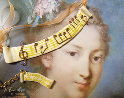 Musical necklaces - Salut d'Amour by Edward Elgar by rosepeonie