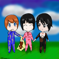 Baby Ninjago jay, nya and cole by rainbowdrop24
