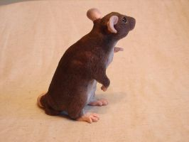 Rat sculpture agouti alt. view by philosophyfox