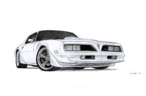1978 Pontiac Firebird Trans AM Drawing by Vertualissimo