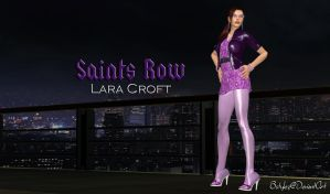 Saints Row 3 Lara Croft (Re-Updated 2 XPS) by bstylez