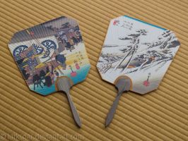 Couple of Uchiwa by larksgar
