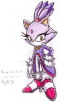 Blaze the Cat by SailorMoonAndSonicX