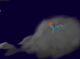 Rainbow Dash: Escape into the night by Sludge888
