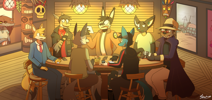 Grunnts and Company : Game Night by JayKessler
