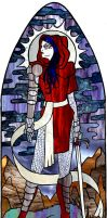 Keziah Stained Glass Window by wraithwitch