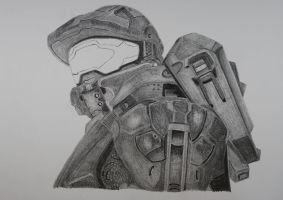 Master Chief Day 2  w.i.p. by 12jack12