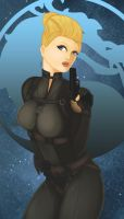 Cassie Cage pinup by LOGARITHMICSPIRAL