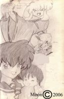 InuYasha, Kagome and family by Leena-A