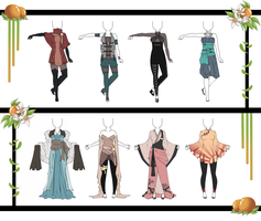 Adoptable Outfit Set 19 - Closed by Orangenbluete