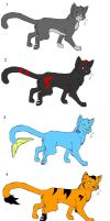 Warrior Cats Adoptables .:CLOSED:. by DarkFlame11