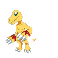 winged agumon by Paxerle