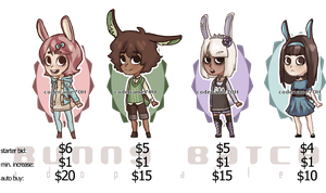 adoptable batch: bunnies (REVAMPED) by PrinceYapi