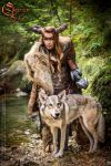 Photoshoot 2015 : Celtic battle faun 2 by Deakath