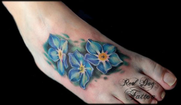 Forget me not Tattoo by Reddogtattoo
