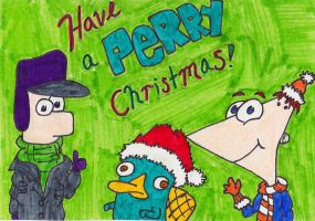Perry Christmas by hithereflamingo