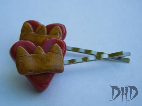 Queen of Hearts Inspired Bobby Pins by 3Alice3