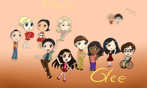 Glee New Directions Chibis by iTiffanyBlue
