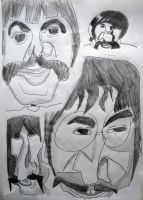 Beatles caricatures by MauricioKanno