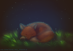 sleep little Fox by Evelinapoodle
