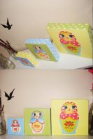 Russian nesting paintings by LAUBoZ
