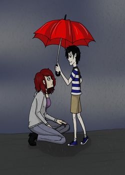 Maybe we can share an umbrella? by Hana-Katsumi