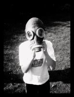 Boy with a gas-mask by Nedeila