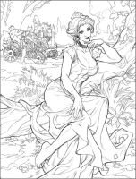Songes Sketchbook Cover Pencil by TerryDodson