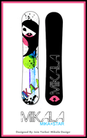 Mikala's Snowboard-Mika Star by KawaiiDesign