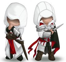 AC: Mini Altair e Ezio by Ghostey