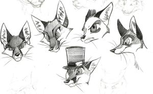 Head Sketches by xLossen