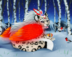 Snowlepard commission by Yechii