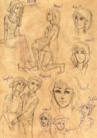 howls castle sketches by Dinoralp