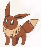 Eevee-First Attempt by nicaranime