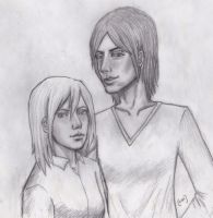 Ymir and Christa by rushenvy