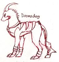 Doomsday the Houndoom by FuneralDyingheart
