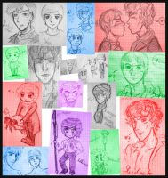 Sherlock and John Doodles by XxGogetaCatxX