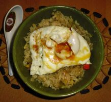 Ginger Chicken Fried Rice by Sumbdumbkid