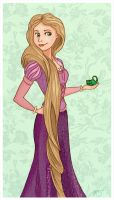 Rapunzel and Pascal by KiwiMarine