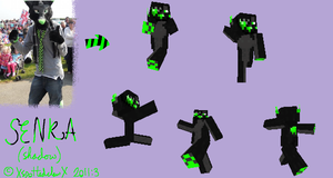 Senka Furry Minecraft Skin by XspottedclawX