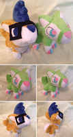 Theo and Thad Plush by Glacdeas