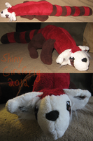 Pabu the Fire Ferret Plushie by ShinyGirafarig