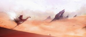 Desert outpost by UlricLeprovost