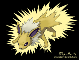 135 Jolteon by EnigmaBerry