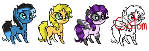 My Little Pony Adoptables! by Tori-Adopts