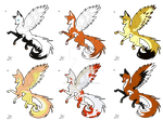 Wing Foxes/ Canines Adoptables CLOSE by lit-nebulosa