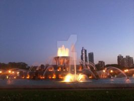 Buckingham Fountain in Chicago by MickyMustaches
